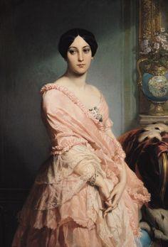 Retrato de señora F 1850-1851 Edouard-Louis Dubufe