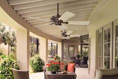 """Canfield 5 Blade 52"""" Ceiling Fan in Coffee Mocha (CMO) and 5 Blade Set in Aged White"""