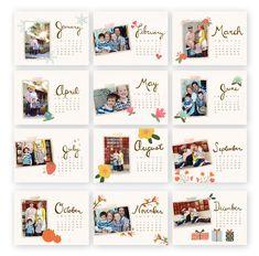 Seasonal Sketches Calendar Template by Jamie Schultz Designs Calendar Layout, Art Calendar, Photo Calendar, Calendar Design, Graphic Design Magazine, Magazine Design, Diy Calender, Free Calendar Template, Picture Gifts