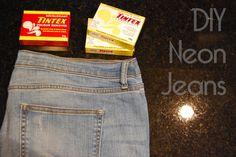 DIY Clothes: DIY Clothes DIY Refashion: DIY Neon Jeans