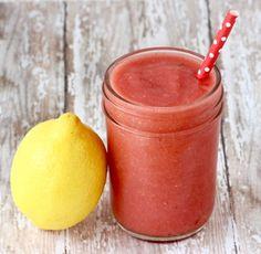 Frozen Strawberry Lemonade Recipe - at TheFrugalGirls.com