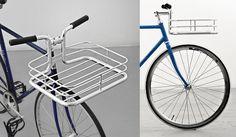 Beautiful Minimal Bike Basket Built Into Handlebars