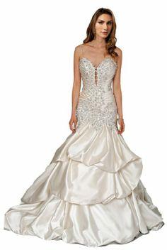 ZHUOLAN White Sweetheart Mermaid Gown in Silk Charmeuse Wedding Dress