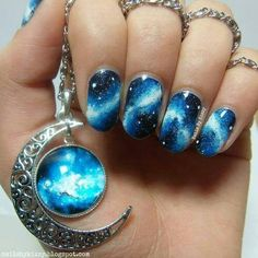 Image via Galaxy nails Image via Galaxy Nail Art Designs 2015 Image via Galaxy Nail Art Ideas Image via Galaxy space nails Image via Galaxy nails for Star Wars Cel Fabulous Nails, Gorgeous Nails, Pretty Nails, Pretty Nail Designs, Nail Art Designs, Pedicure Designs, Tattoo Designs, Awesome Nail Designs, Crazy Nail Designs