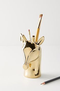 Anthropologie | Giraffe Pencil Cup | #AnthroFave