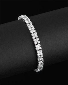 platinum 10.26 cttw. diamond bracelet