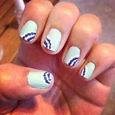New nail design for #summer! #nails #naildesigns #nailart #polkadots