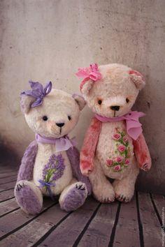 Мишки Тедди ручной работы. Ярмарка Мастеров - ручная работа. Купить Lavender  и Rose. Handmade. Белый, мишка тедди