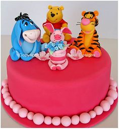 Winnie The Pooh and Friends Birthday Cake, Tigger, Piglet, Eeyore, Children Birthday Cakes, 1st Birthday Cakes Sydney Australia, Kid Birthday Cakes