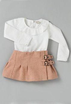 Falda de paño Rosa-Faldas bebé-KuiniCollection