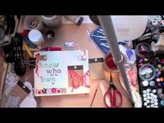 karenika for Jenni Bowlin. This is a fantastic video of her making an art journal layout.