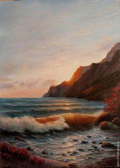Pintura al óleo verano indio en el mar