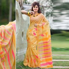Bhagalpuri Mixed Cotton Traditional Indian Printed Saree
