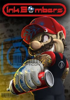 have you seen a crazy mario before, today is your lucky day Deadpool Wallpaper, Graffiti Wallpaper, Cartoon Wallpaper, Graffiti Art, Dope Cartoon Art, Dope Cartoons, Horror Cartoon, Badass Drawings, Graffiti Characters