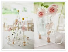 Love. Love. Love. These centerpieces...Simple & Sweet