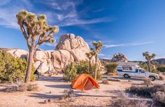My Experience Camping At Joshua Tree.... In The Rain and In Winter | HC UCSB