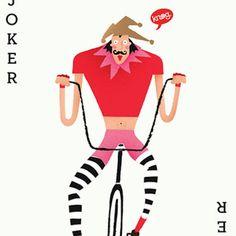 The joker wears Lycra #lycra #joker #illustration #chopper #bike #cycling by nikifishercreative http://ift.tt/1zi5rNo