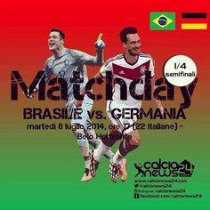 Manca davvero poco al calcio d'inizio di #Brasile-#Germania, chi la spunterà in questa epica semifinale dei #Mondiali? The kick-off of the semifinal between #Brazil and #Germany is hours away. Who will triumph in this #WorldCup classic?