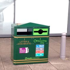 MLB/224 Recycling Unit for Warwick District Council, great for use in busy streets for maximum litter & recycling collection!