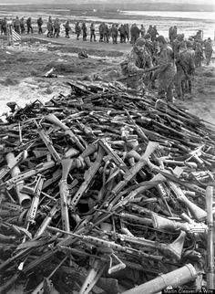 Pile of Argentinian FN. Self Loading Rifles Falklands 1982 - Captured by The…Loading that magazine is a pain! Get your Magazine speedloader today! http://www.amazon.com/shops/raeind