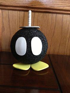 handmade Super Mario Bros inspired hot bob-bomb party decoration or party game. $26.00, via Etsy. Más