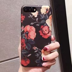 For iPhone 7 6 6s Plus Fashion Retro Floral Phone Cases Luxury Camellia Flower Soft Tpu Case Back Cover Capa Coque For iPhone 7