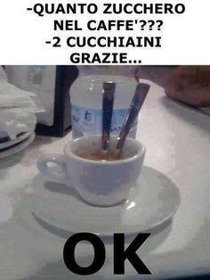 zucchero nel caffe' haha