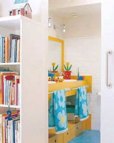 Colourful bright bathroom