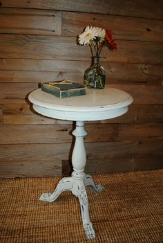 Small painted  Drum table this is what I want. 2 please!!