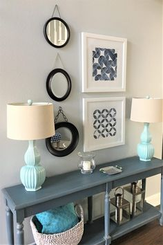 I am so excited to share my favorite inspiration pictures and 15 BEST Round Mirrors selections with you! If you LOVE round mirrors, take a peek here! Cute Furniture, Entry Ways, Round Mirrors, Coastal Style, Entryway Tables, Bedrooms, Decor Ideas, Decoration, Interior