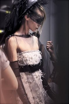 Backstage Chanel Couture F/W 2011