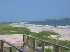 Caswell Beach, NC. The platform things on the dunes have benches or at least some do. Great place to go have lunch and just watch the waves roll in and ships roll out.