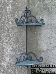 Polica, kovano gvždje. Shelf, wrought iron. Kolaček 1897.