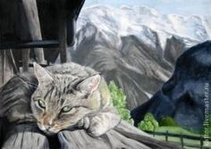 cats by lucie bilodeau images | Picture Cat in the mountains