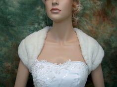 Sale - Ivory bridal faux fur shrug stole shawl wrap - was 59.99
