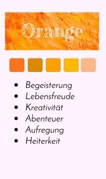 Farbporträt - Farbe Orange