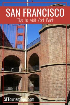 Fort Point National Historic Site is part of an old army base and one of the oldest buildings in the city. Learn more about the fort, get great photos of the Golden Gate Bridge, and more. #sanfranciscofree #sanfranciscothingstodo #sftourismtips Historical Landmarks, Historical Sites, San Francisco Attractions, San Francisco With Kids, San Francisco Photography, Fort Point, Army Base, Old Building, Golden Gate Bridge