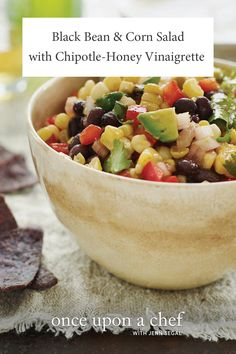 Black Bean and Corn Salad with Chipotle-Honey Vinaigrette