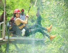 Kylie Jenner and boyfriend Tyga go zip-lining in Mexico #dailymail