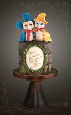 Black Cherry Cake Company - Mr and Mrs Worm, Labyrinth Labyrinth Worm, Labyrinth Movie, Bowie Labyrinth, Labyrinth Tattoo, Pretty Cakes, Beautiful Cakes, Amazing Cakes, Cupcakes, Cupcake Cakes