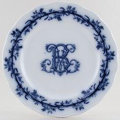 Cauldon Lobelio Plate c1900