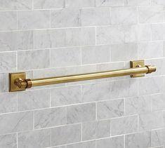 """Pearson Towel Bar, 24"""", Brass finish"""
