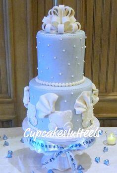 Ruffle Stroller Baby Shower Cake