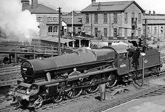 45595 Southern Rhodesia Steam Trains Uk, Railroad History, Steam Railway, Train Times, Travel Ads, British Rail, Train Engines, Steam Engine, Steam Locomotive