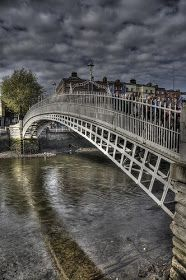 Ha'Penny Bridge - Dublin, Ireland... I once stayed the night in a hotel right in front of this bridge :)