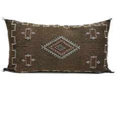 Giant King Size 20'X 37 Moroccan Cactus Silk Sabra Pillow Cover ($108) ❤ liked on Polyvore featuring home, home decor, throw pillows, decorative pillows, grey, home & living, home décor, moroccan home accessories, cactus home decor and grey accent pillows