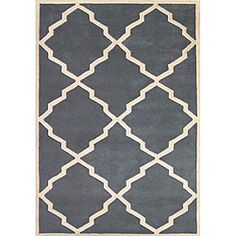 Wool Blue/Grey low profile rug via Overstock  $150.00