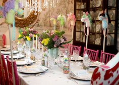 """Everything is so cute! Amazing """"Humpty Dumpty"""" #babyshower Brunch Table Setting by @Erin Phillips"""