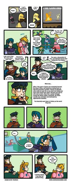 AWKWARD ZOMBIE - The Legacy How I love the days of brawl. IKE U TROLL! (This is y I love Ike. Marth and Ike are from two different worlds. how could Ike know anything about Marth? Video Game Anime, Video Game Memes, Video Games Funny, Funny Games, Awkward Zombie, Nintendo Super Smash Bros, Nintendo Characters, Human Soul, Metroid
