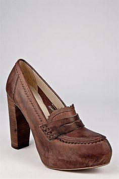 Night High Heel Platform Pump - Dark Brown Leather# high pumps# cheap shoes online# hot shoes #red pumps# nude shoes# cheap heels#  heels for cheap